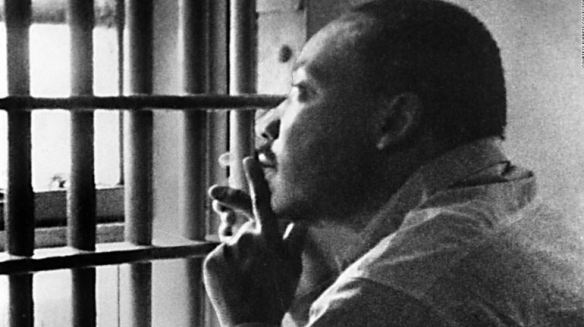 Martin Luther KIng in Jail Cell http://teachpeacenow.com